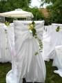 Svatební saténové potahy