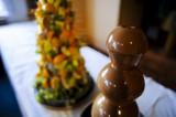 Čokoládová fontána s ovocnou pyramidou